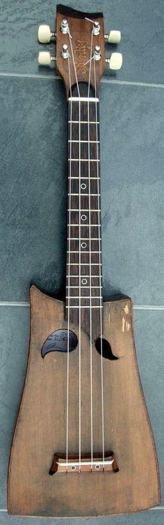 Anthony Moggridge - Shonky #LardysUkuleleOfTheDay #Tenor #Ukulele ~ https://www.pinterest.com/lardyfatboy/lardys-ukulele-of-the-day/ ~ made from reclaimed mahogany