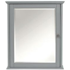 Home Decorators Collection Hamilton 27 in. H Mirrored Cabinet in Grey 0567500270 at The Home Depot - Mobile
