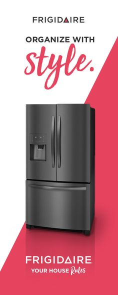 Look sharp and organize your way. This beautiful, new Smudge-Proof™ Black Stainless Steel French Door Refrigerator dresses up any kitchen decor. It also resists fingerprints, making cleanup a snap. And, with 100 different ways to configure the interior storage, it can accommodate all your refrigerator organization needs.