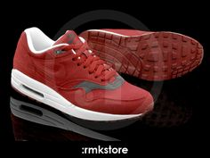san francisco db2ba 17881 Nike Air Max 1 Team Red Velvet Brown (308866-601)