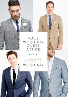 5d3df1e24e36 Wedding Guest Attire Ideas for Men for a Rustic Wedding