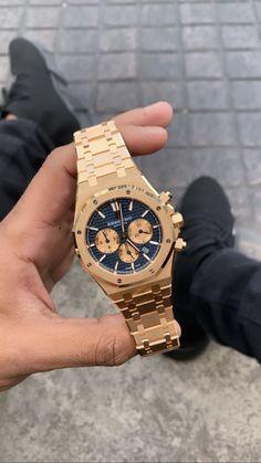 Audemars Piguet Gold, Audemars Piguet Watches, Best Watches For Men, Luxury Watches For Men, Gentleman, Hand Watch, Stylish Watches, Luxury Jewelry, Men's Jewelry