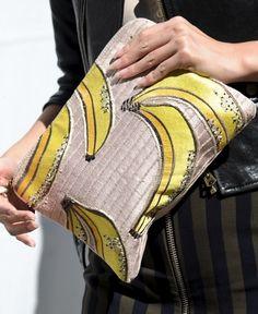 Kenzo clutch at New York Fashion Week