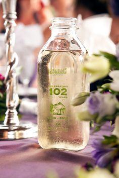 House wine served in antique Avalon milk bottles. Craft Cider, Milk Bottles, Dinner Is Served, Wedding Table, Wedding Events, Tasty, Wine, Antique, House