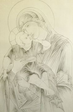 """Step-by-step: Documenting Anthony Gunin's creation of The Most Holy Theotokos """"Glykophilousa"""" icon — Steemit Drawing Cartoon Characters, Cartoon Sketches, Character Drawing, Religious Icons, Religious Art, Church Icon, Paint Icon, Byzantine Icons, Artist Portfolio"""