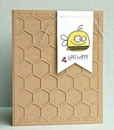 Bee Happy. Paper Smooches Stamps