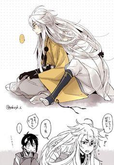 Hair Stories of Kogi Video Game Swords, Touken Ranbu Mikazuki, Manga Anime, Anime Art, Chinese Art, Otaku, Kawaii, Fan Art, Drawings