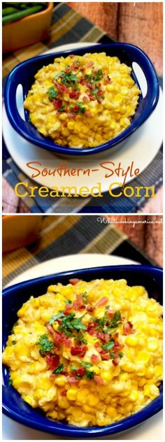 Southern Style Creamed Corn Recipe | whatscookingamerica.net | #southern #creamed #corn #thanksgiving #christmas