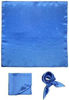 BMC 12 pc White & Blue Color Lightweight Square Fashion Scarf Handkerchief Set: Amazon.ca: Luggage & Bags