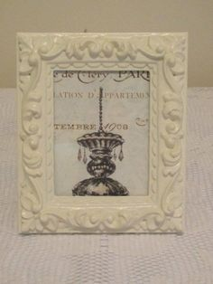 Painted frame with French theme