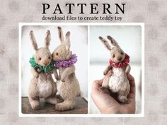 Stuffed Animals, Easter Pillows, Homemade Dolls, Teddy Toys, How To Make Toys, Pattern Drawing, Doll Patterns, Bear Patterns, Plushie Patterns