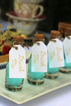 """Drink Me"" Bottles from an Alice In Wonderland Dessert Table via Kara's Party Ideas | KarasPartyIdeas.com (20)"