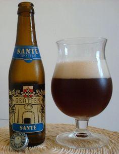 Cerveja Grotten Santé, estilo Belgian Specialty Ale, produzida por Brouwerij Kazematten, Bélgica. 6.5% ABV de álcool.