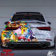 Audi Pokémon Design - Design by LiLa Ceylan - Autos Audi Rs3, Audi Tt 8n, Audi A5 Coupe, Bmw Autos, Audi Sport, Sport Cars, Design Autos, Carros Audi, Supercars
