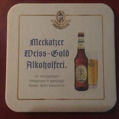 Meckatzer Bierdeckel - Berlin - Marinehaus - 17.10.17 Beer Coasters, Berlin, Vases, Ale, Beer Bottle Caps