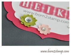 Namensschild Stampin UP! Demotreffen 2013
