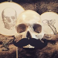 No shave November. Let's see them mutton chops and Fu Manchus! #Movember Male cancer awareness month #mcm #jewelry #silverjewelry #fashion #skull #macabre #instagood #calilife #potd #casualluxury #follow #ingridjewelry