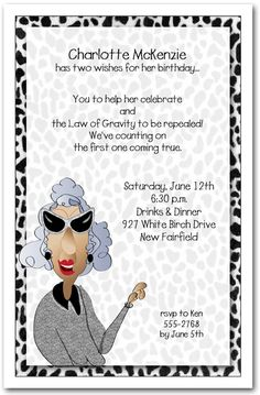 Sassy Let Me Tell You Birthday Invitations, Adult Birthday Invitations