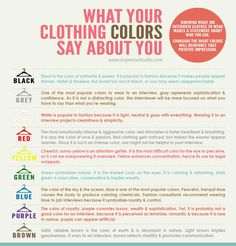 What does your clothing colors say about you?