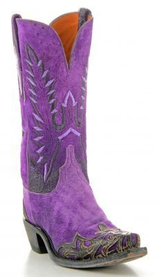 f34d90616b7 Womens Lucchese Goat Boots Purple  N4736 via  Allens Boots Purple Cowboy  Boots
