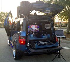 E2 Xtreme #Honda Element, rear www.facebook.com/mixonwheels #mobiledj #dj #events
