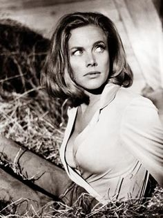 Honor Blackman as Pussy Galore in Goldfinger