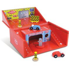 Small Garage in Suitcase Toy by Vilac