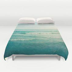 Bettbezug Ozean Meer Blau Wellen-Dekor von thelastsparrow auf Etsy