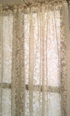 Country Cottage Polyester Lace 58 X 60 Window Treatment Yesteryears Classic By LisaLiYesterYears On Etsy