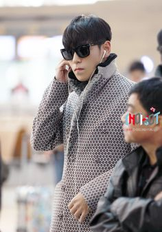 {PICS} 131114 TOP and Taeyang @ Incheon Airport | BBVIP StandUp
