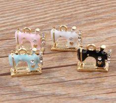 Sewing Machine Enamel Charms Necklace Pendant Bracelet Jewelry Accessories Earring Findings Al Diy Fashion, Fashion Jewelry, Jewelry Accessories, Jewelry Design, Jewelry Sets, Aliexpress, Diy Earrings, Jewelry Findings, Clay Jewelry