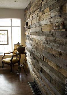 Купить Лофт дизайн стен - разноцветный, интерьер, деревянное панно, дерево, массив дерева