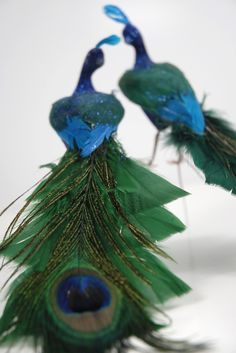 Decorative peacocks