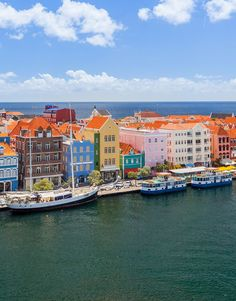 Colorful buildings in Willemstad, Curacao