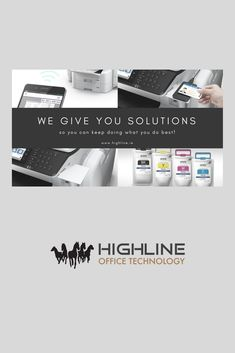 We give our clients solutions. Office Printers, Epson, Printing Services, Technology, Tech, Tecnologia