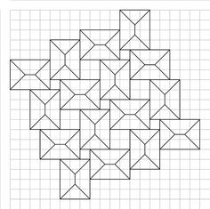 Crease pattern for squares flagstone tessellation, template by Alex Bateman