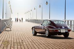 Jaguar E-type tył | by http://jaguaremdoslubu.com.pl