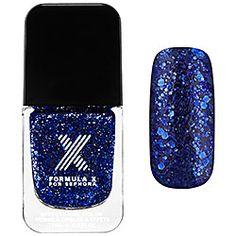 Formula X For Sephora - Lusters in Catalyst - navy blue multi-glitter   #sephora #SephoraSweeps