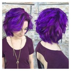 21 Looks That Will Make You Crazy for Purple Hair ❤ liked on Polyvore featuring hair