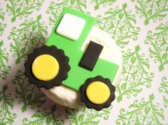 Cupcakes for a construction-themed party.