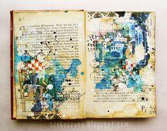 ⌼ Artistic Assemblages ⌼ Mixed Media & Collage Art - we just live Kunstjournal Inspiration, Sketchbook Inspiration, Art Sketchbook, Mixed Media Journal, Mixed Media Collage, Collage Art, Collages, Art Journal Pages, Art Journals