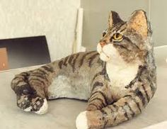 Image result for paper mache  cat