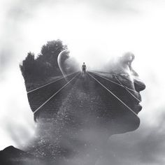 Photographer Brandon Kidwell created a series of double exposure portraits that he called 'Wisdom for my Children'. He created the images with his iPhone and. Double Exposure Photography, Conceptual Photography, Creative Photography, Portrait Photography, Street Photography, Urban Photography, Color Photography, Photography Kids, Digital Photography