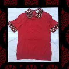 Sweater Combination Blouse Top Short sleeves lightweight sweater built in dress shirt. Business Casual or with jeans Ann Taylor Tops