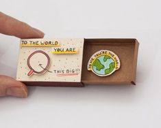 Tendance Bracelets  Anniversary Love Card Matchbox/ Gift box/ Message box/ To me you are the world