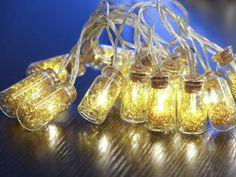 Gold Tinsel Jar Garland Lights | NOMA Christmas | www.noma.co.uk