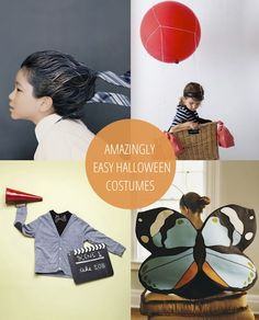 25 Amazingly Easy Halloween Costumes For Kids - great for the dress up bin! Homemade Halloween Costumes, Creative Halloween Costumes, Cool Costumes, Halloween Crafts, Halloween Decorations, Family Kids, Holidays Halloween, Diy For Kids, Holiday Fun