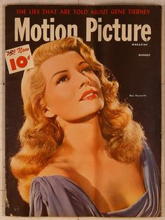 Rita Hayworth on the cover of Motion Picture...