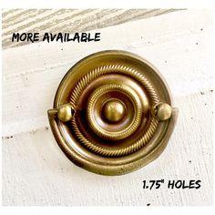 Drawer PULL Antique Keeler Brass Round A202 Hepplewhite