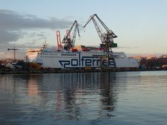 Passenger ferry Mazovia in dry dock SD I, photo: J. Sd, Travel, Viajes, Trips, Tourism, Traveling